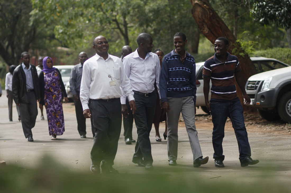 Members of the Senior Management Team of Farm Concern International coming from one of the sessions